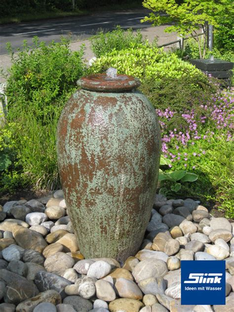 keramikbrunnen garten gartenbrunnen antico krugbrunnen in antiker optik aus