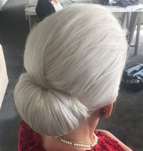 elderly long hair french bun wig 40 contemporary and stylish long hairstyles for older women