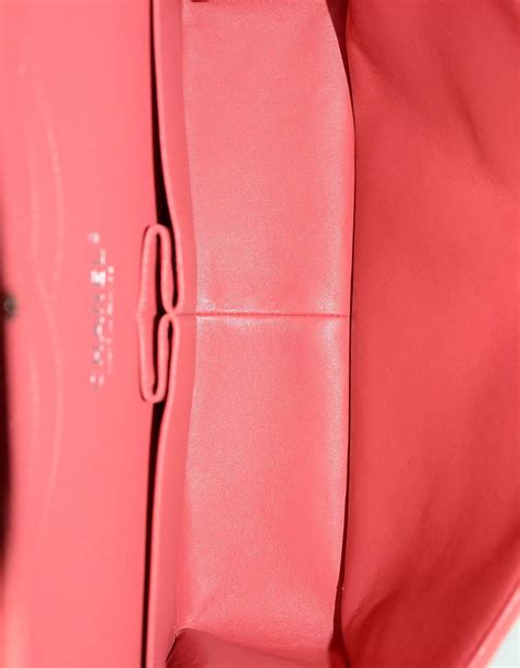 Chanel Jumbo Coral chanel coral quilted matte caviar jumbo classic flap bag shw for sale at 1stdibs
