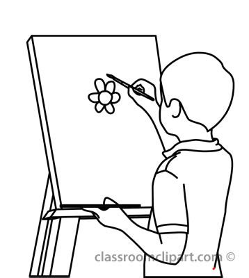 draw clipart classroom clip black and white clipart panda free