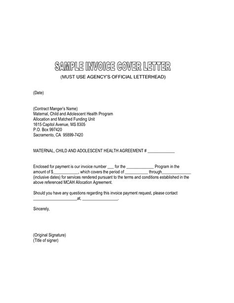 invoice cover letter templates free resume examples