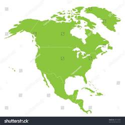 map america american continent stock vector
