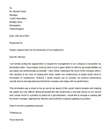 Cancellation Letter Vacancy letter of appeal sle template learnhowtoloseweight net