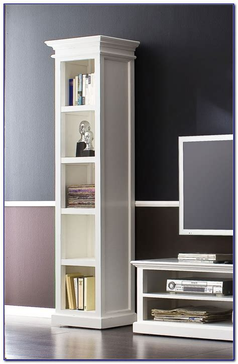 Tall Narrow Bookcase White   Bookcase : Home Design Ideas