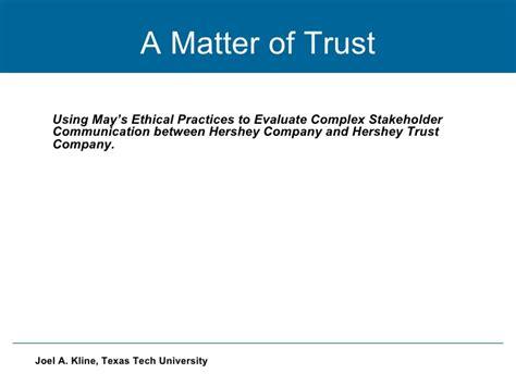 matter of trust a matter of trust
