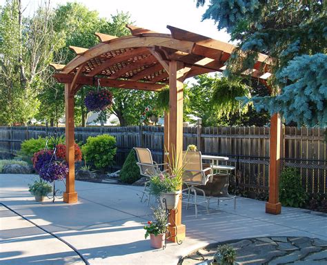 arched pergola kits redwood arched garden pergolas