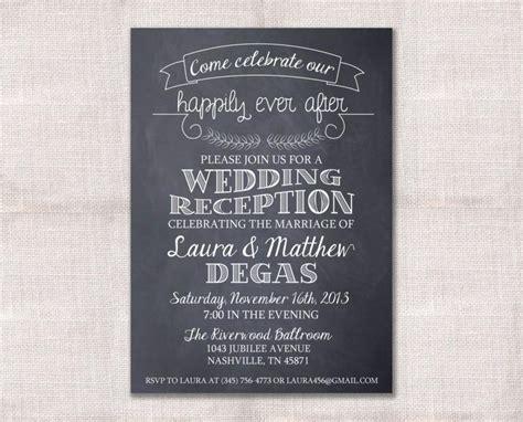 invitations for a wedding after wedding reception celebration after invitation custom printable 5x7 2490914 weddbook