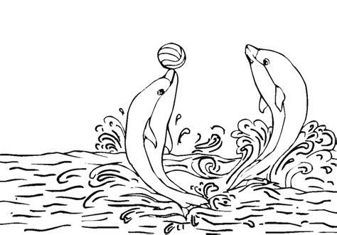 Printable dolphin coloring page   Coloringpagebook.com