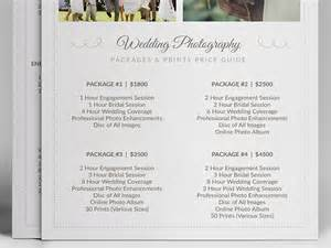 Wedding Photography Pricing Wedding Photographer Pricing Guide Psd Template V3 On Behance