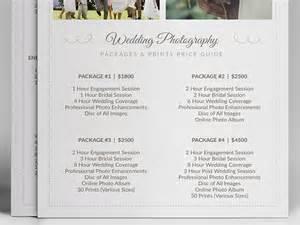 Wedding Photographer Price List Template Wedding Photographer Pricing Guide Psd Template V3 On Behance