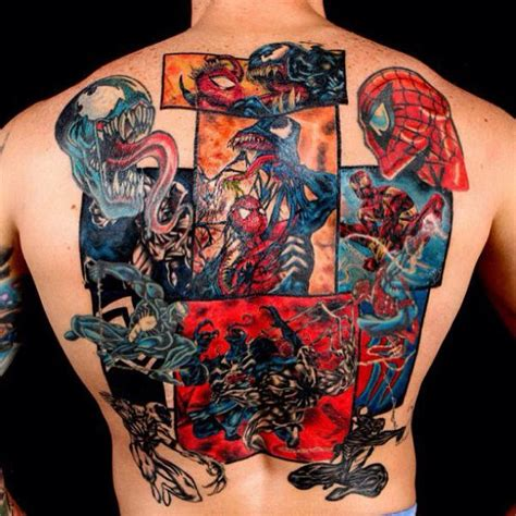larger than life superhero tattoos bam pow batman guff
