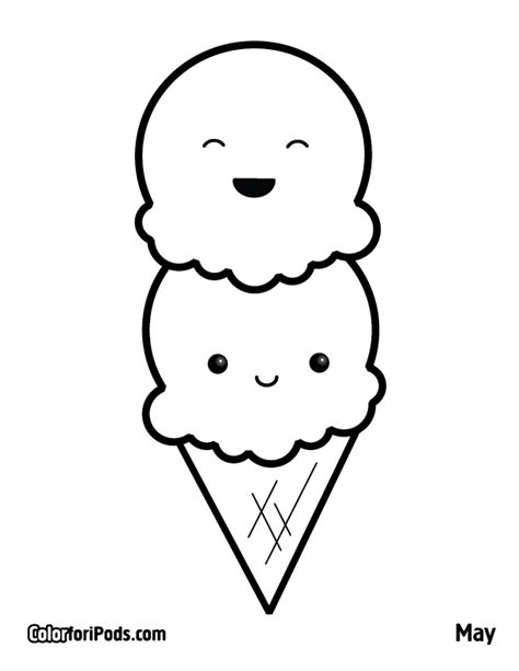 Free Coloring Pages Of Kawaii Ice Cream Coloring Pages Kawaii