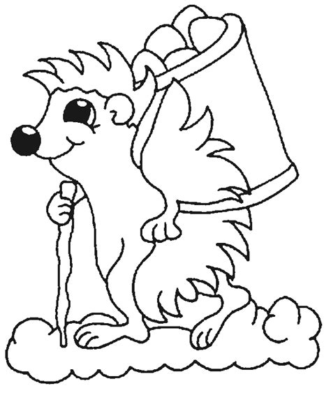 Hedgehog Coloring Pages Coloringpages1001 Com Hedgehog Coloring Pages
