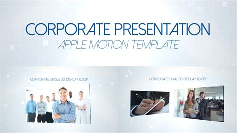 Corporate Presentation Apple Motion 5 Template Motion 5 Templates Free For Mac