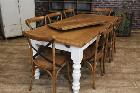 oak farmhouse kitchen table extending farmhouse table with an oak top and a painted