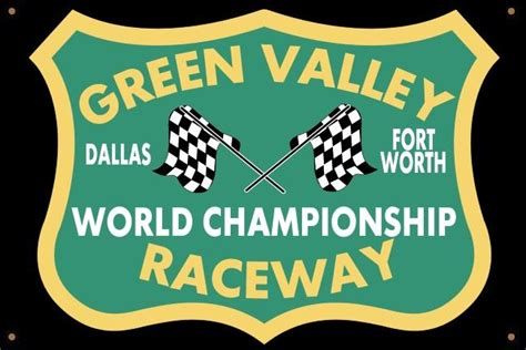 green valley raceway texas garage banner merchants  speed