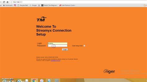 Reset Wifi Tm | how to change tm streamyx wifi name and password 2016