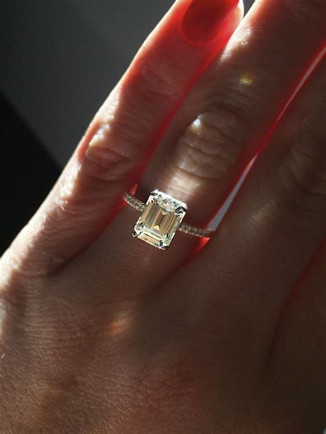 25 best rectangle engagement rings ideas on