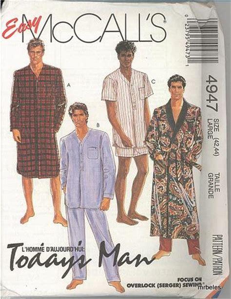 nightshirt pattern mens sleepwear pajamas nightshirt robe mccalls sewing