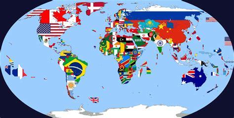 map world flags флаги всех стран на карте мира