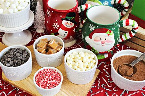 coffee bar toppings diy holiday hot chocolate bar ideas tips home cooking