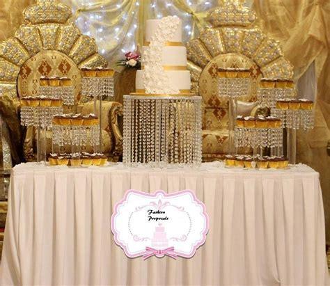 Wedding Cake Stand Cascade Waterfall Crystal Set Of 9