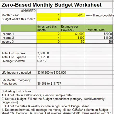 zero budget template zero based budget spreadsheet for mac excel and opensource