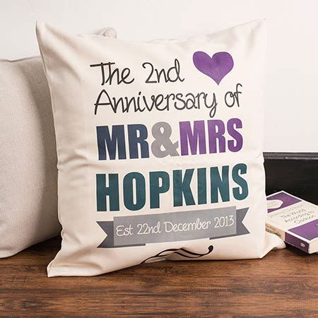 2nd Wedding Anniversary Ideas Uk by Wedding Anniversary Gifts Ideas Gettingpersonal Co Uk