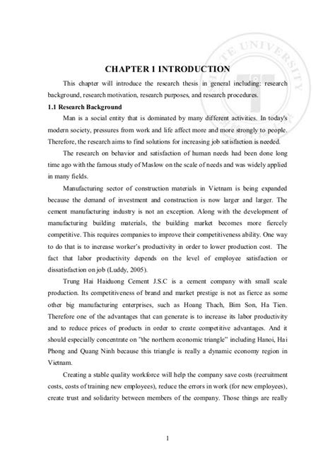 Sle Thesis Employee Motivation by Thesis Motivation 28 Images Thesis Writing Motivation