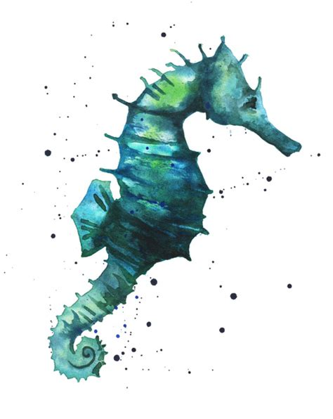 Horse Shower Curtains by Seahorse Print Seahorse Painting Watercolor Seahorse