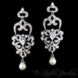 Hoop Dreams Pave Rhinestone Earrings Make For Eyecatching Easy Style Fashiontribes Fashion by Cz Cubic Zirconia Chandelier Pearl Bridal Earrings