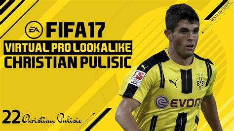 christian pulisic in fifa 17 fifa 17 virtual pro lookalike tutorial christian