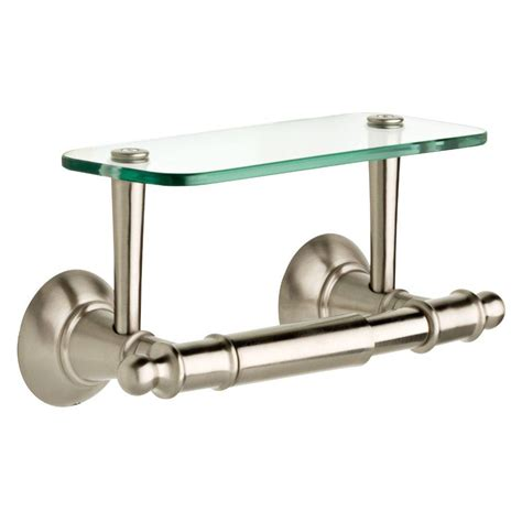 toilet paper holder with shelf delta double post toilet paper holder with glass shelf in