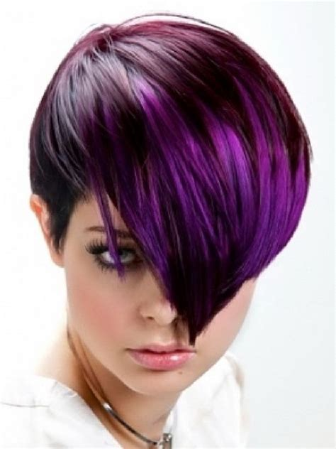 Purple Hairstyles by Burgundy And Purple Hairstyle Hair