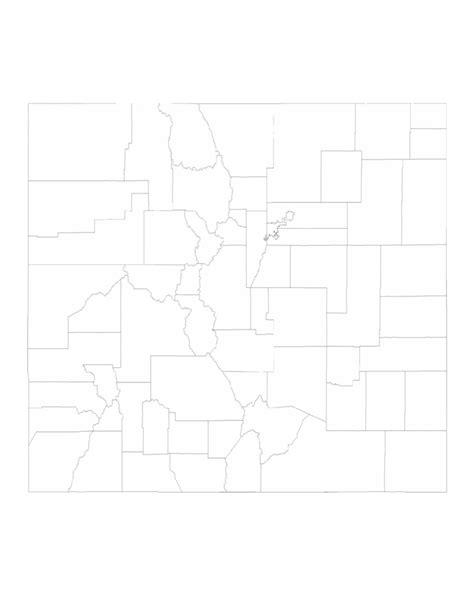 blank map of colorado blank colorado county map free
