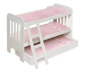 american doll beds bunk trundle bed for american doll just 39 shipped