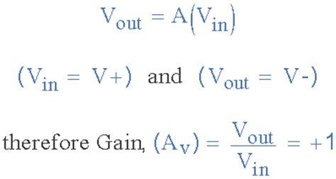 gain resistor formula non inverting operational lifier configuration