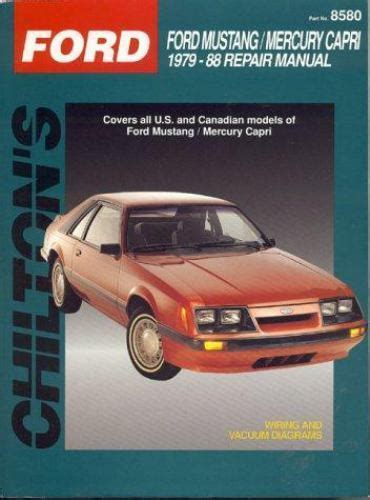 free service manuals online 1986 ford mustang spare parts catalogs 1979 1988 chilton ford mustang capri repair manual 801985803 ebay