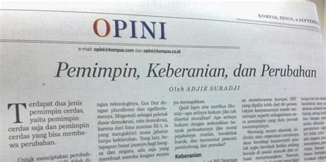 menulis kolom opini kompasianer berbagi tips menulis opini di surat kabar