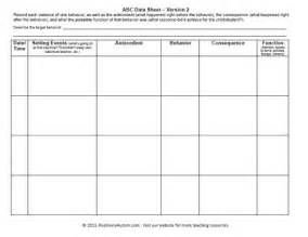 Data Collection Chart Template by Quot Aba Data Sheet Collection Forms Autism Data