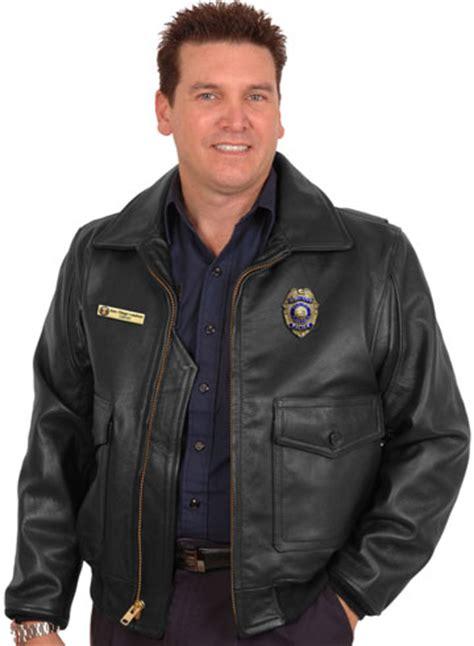 police leather uniform law enforcement patrol bomber