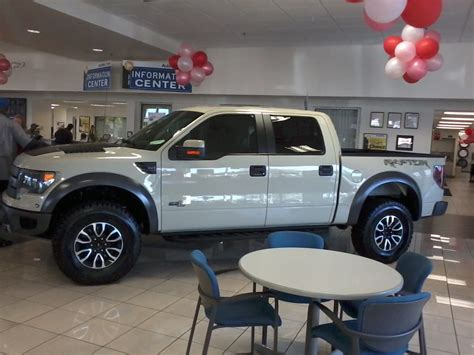 autonation ford st pete ford f 150 raptor tinted on the showroom floor at