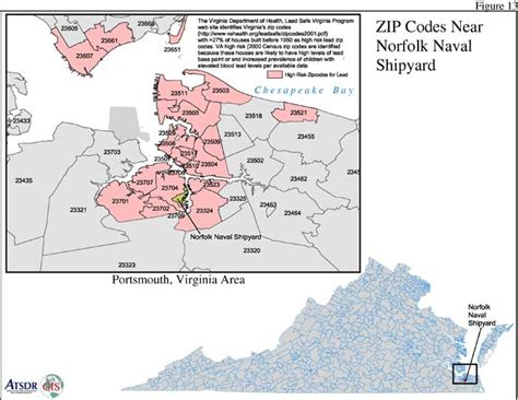 zip code map norfolk va atsdr pha hc norfolk naval shipyard p3