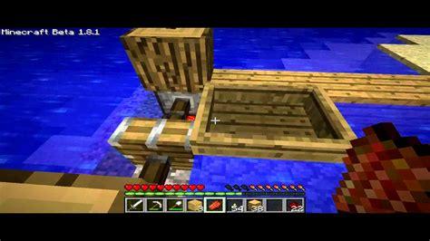 minecraft boat piston minecraft simple piston dock youtube