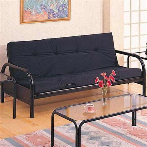 futon pictures coaster furniture satin black metal futon with