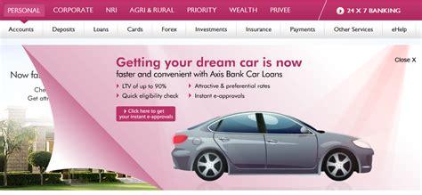 auto bank axis bank launches insta car loans wheel o mania