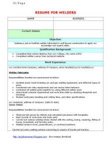 Welding Resume by Fresh And Free Resume Samples For Resume Template For Welders