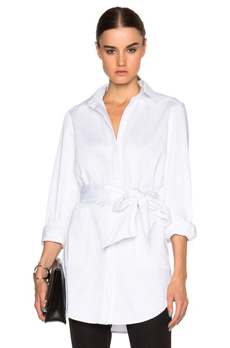 Dress Sally Belt sally lapointe stretch cotton oversized shirt with wrap