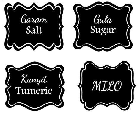 Sticker Dapur 6 Label Bekas Di Dapur Desainrumahid