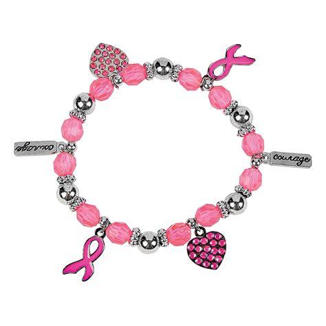 pink ribbon charm bracelets trading